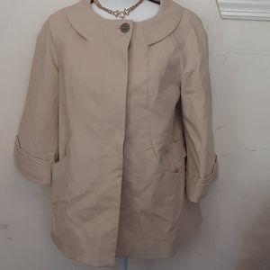 Pink Tartan beige spring / fall coat size 6